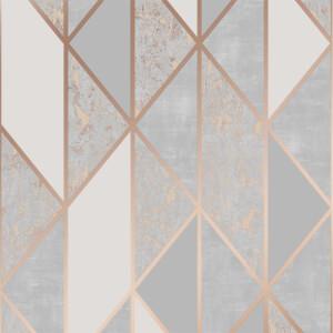 Superfresco Milan Geo Rose Gold Wallpaper