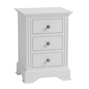 Camborne Large Bedside Table - White