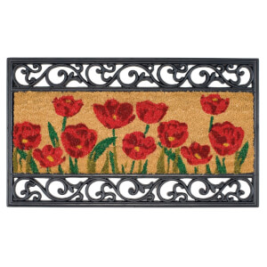 Wrought Iron Coir Poppy