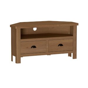 Newlyn Corner TV Unit - Oak