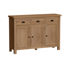 Newlyn 3 Door 3 Drawer Sideboard - Oak