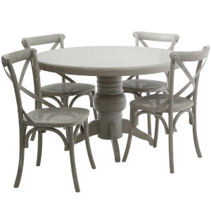 Vermont 4 Seater Dining Set - Grey Wash