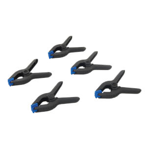 Pack of 5 Spring Clamps - 30mm Jaw