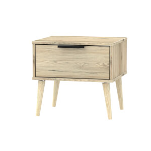 Tokyo 1 Drawer Bedside Table - Oak