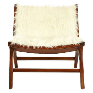 Inca Faux Fur Angled Chair