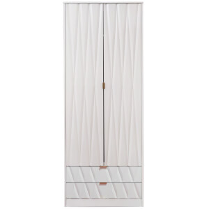 Ice 2 Drawer Wardrobe - White