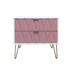 Ice 2 Drawer Midi Chest - Pink