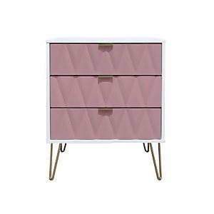 Ice 3 Drawer Midi Chest - Pink
