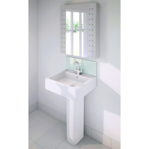 Wetwall Upstand - 600 x 200mm - Green Mist - Glass
