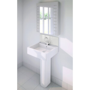 Wetwall Upstand - 600 x 200mm - White Pearl - Glass