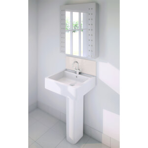Wetwall Upstand - 600 x 200mm - Pale Pink - Glass