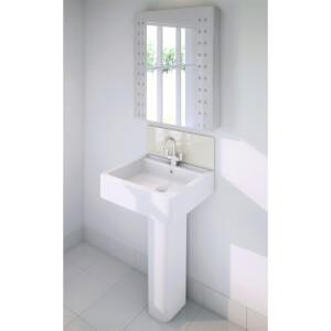 Wetwall Upstand - 900 x 200mm - Magnolia - Glass