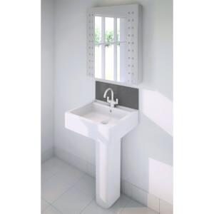 Wetwall Upstand - 900 x 200mm - Slate - Glass