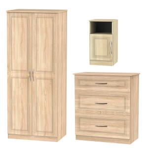 Milton 3 Piece Bedroom Furniture Set - Oak