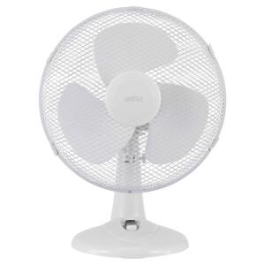 12 Inch Desk Fan - White