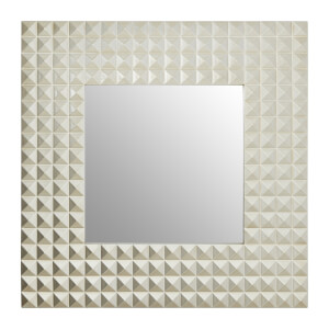 Champagne 3D Geometric Wall Mirror