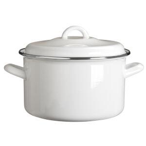 Porter Casserole Dish - 4.7L - White Enamel