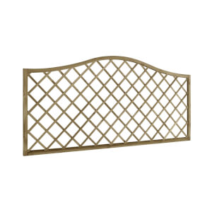 6ft x 3ft (1.8m x 0.9m) Pressure Treated Decorative Europa Hamburg Garden Screen - Pack of 3