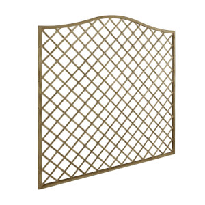 6ft x 6ft (1.8m x 1.8m) Pressure Treated Decorative Europa Hamburg Garden Screen - Pack of 4