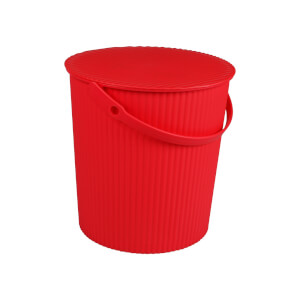 11L Round Crinkle Bucket - Pink