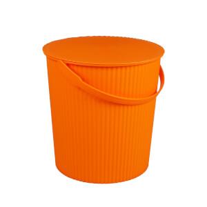 11L Round Crinkle Bucket - Orange