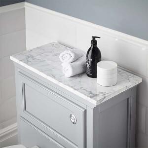 Bathstore Savoy Toilet Worktop - Carrara Marble