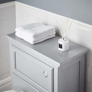 Bathstore Savoy Toilet Worktop - Gun Metal Grey
