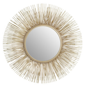 Temple Gold Rods Wall Mirror