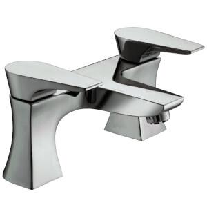 Hourglass Bath Filler - Chrome