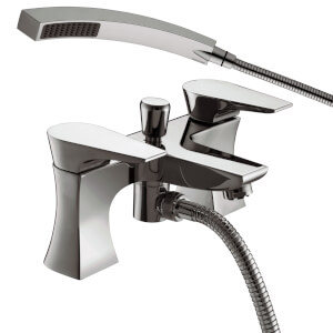 Hourglass Bath Shower Mixer - Chrome