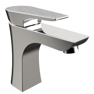 Metallix Hourglass 1 Hole Bath Filler - Silver Sparkle