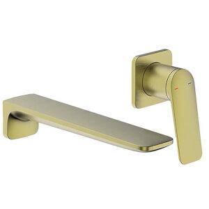 Bathstore Aero Wall Mounted Basin Mixer Tap - Brushed Brass