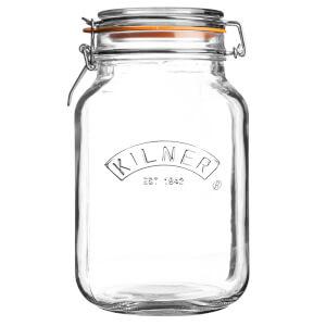 Kilner Clip Top Square Jar - 2L