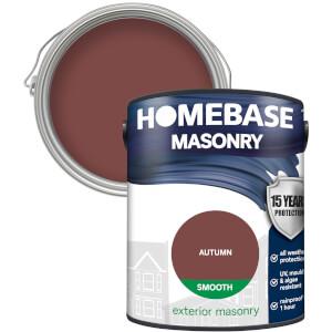 Homebase Smooth Masonry Paint - Autumn 5L