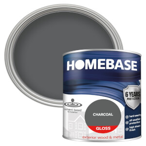Homebase Exterior Gloss Paint - Charcoal 750ml