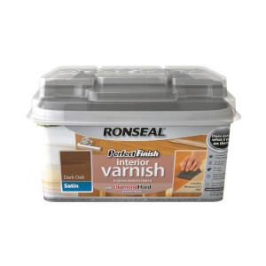 Ronseal Perfect Finish Interior Varnish - Dark Oak Satin 750ml