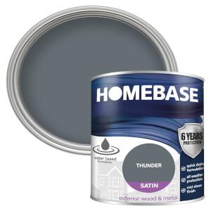 Homebase Exterior Satin Paint - Thunder 750ml