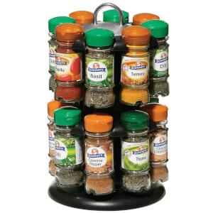 16 Schwartz Bottles Spice Rack