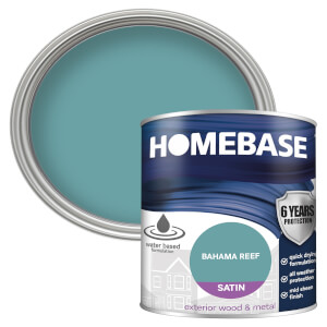 Homebase Exterior Satin Paint - Bahama Reef 750ml