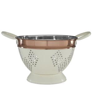 Prescott Medium Colander - Cream & Copper