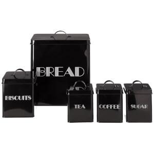 5 Piece Storage Set - Black