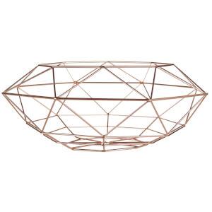 Wide Fruit Basket - Copper Finish