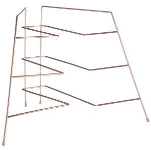 Copper Plated Corner Plate Rack