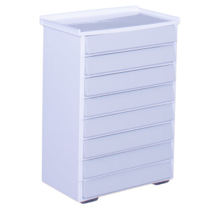 Really Useful 8 Drawer Tower - White & Grey (8x0.9L)