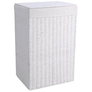 Laundry Hamper Foldable White Paper Rope