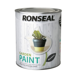 Ronseal Garden Paint - Blackbird 750ml