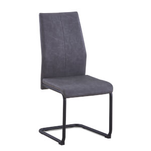 Skelby Cantilever Dining Chairs - Set of 2 - Grey