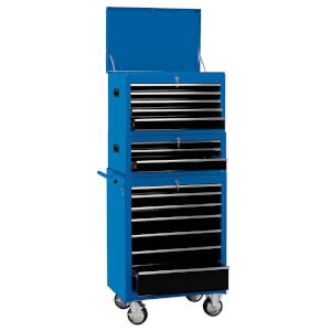 26 Inch Combination Cab Tool Chest (15 Drawer)