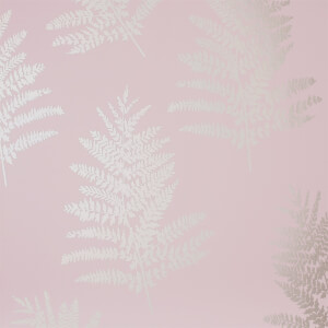 Arthouse Opera Fern Tree Smooth Metallic Blush Pink Wallpaper