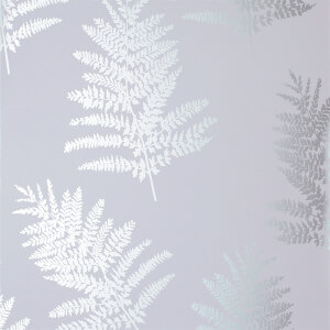 Arthouse Opera Fern Tree Smooth Metallic Silver Wallpaper